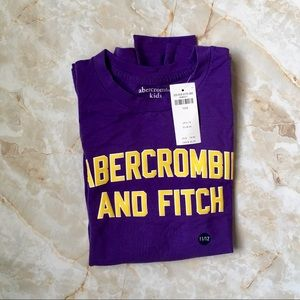 abercrombie kids Shirts & Tops - Abercrombie Kids Long Sleeve Purple Shirt 11/12